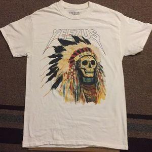 White Yeezus concert T-shirt
